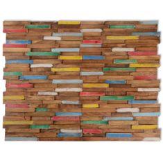 10 ks nástenných obkladových panelov, 1 m², teakové drevo