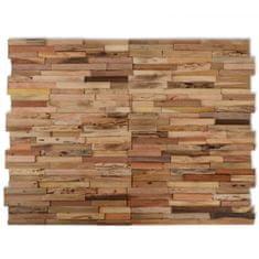 10 ks nástenných obkladových panelov, 1 m², recyklované teakové drevo