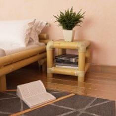 shumee természetes bambusz éjjeliszekrény 40 x 40 x 40 cm