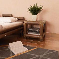 shumee sötétbarna bambusz éjjeliszekrény 40 x 40 x 40 cm