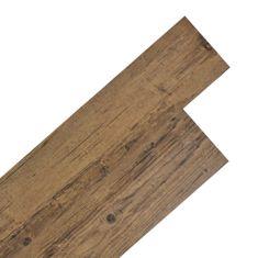 shumee Samolepící podlahová krytina PVC 5,02 m² 2 mm ořechově hnědá