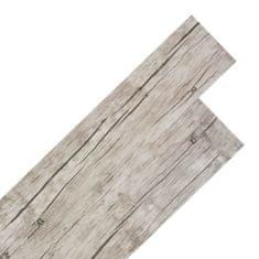shumee Samolepící podlahová krytina PVC 5,02 m² 2 mm dub bělený