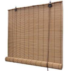Vidaxl Bambusová roleta 100 x 220 cm hnědá