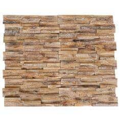 Nástenné 3D obkladové panely z teakového dreva, 10 ks, 1 m²
