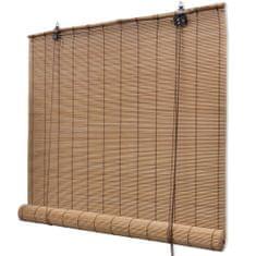 Roleta bambusowa, 80 x 220 cm, brązowa