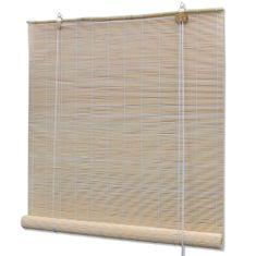 Roleta bambusowa, 80 x 220 cm, naturalna