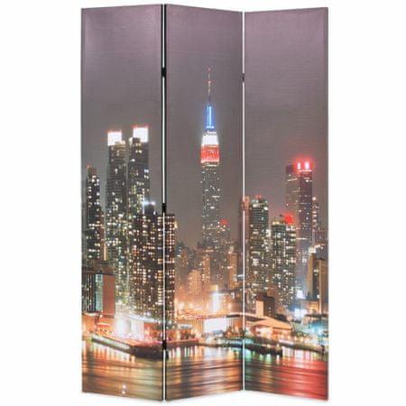 shumee Zložljiv paravan 120x170 cm New York ponoči