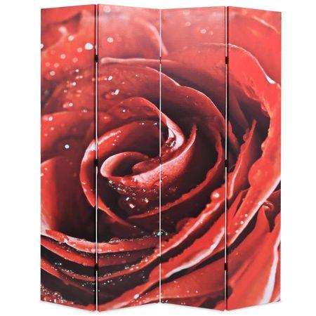 slomart Zložljiv paravan 160x170 cm vrtnica rdeč