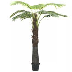 Sztuczna palma z doniczką, 240 cm, zielona