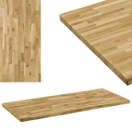 shumee téglalap alakú tömör tölgyfa asztallap 44 mm 100 x 60 cm