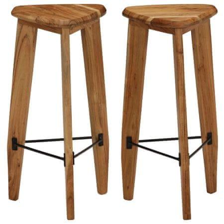 slomart Barski stolčki 2 kosa trden akacijev les