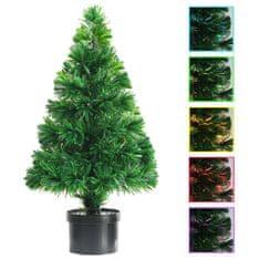 Umelý vianočný stromček s optickým vláknom zelený 64 cm