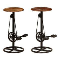 shumee Barové jídelní židle 2 ks masivní recyklované dřevo
