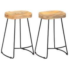 Petromila Barové stoličky Gavin 2 ks masivní mangovníkové dřevo