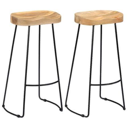 slomart Barski stolčki Gavin 2 kosa trden mangov les