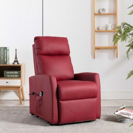 shumee bordó dönthető és emelhető elektromos fotel