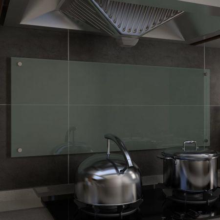 shumee Kuhinjska zaščitna obloga bela 100x40 cm kaljeno steklo