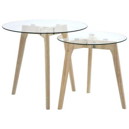 shumee 2 db edzett üveg kisasztal