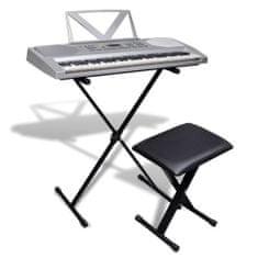 shumee Elektronické klávesy 61 kláves se stojanem na klávesy a stoličkou