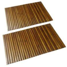 Vidaxl Koupelnová předložka 2 ks 80 x 50 cm akáciové dřevo