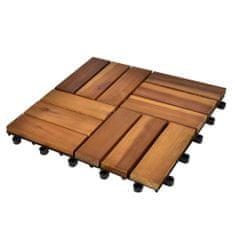 shumee 30 ks akáciové terasové dlaždice 30 x 30 cm