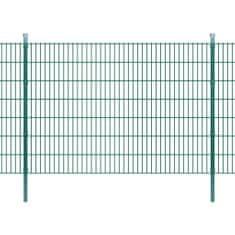 2D Panele i słupki ogrodzeniowe 2008x1430 mm 2 m zielone