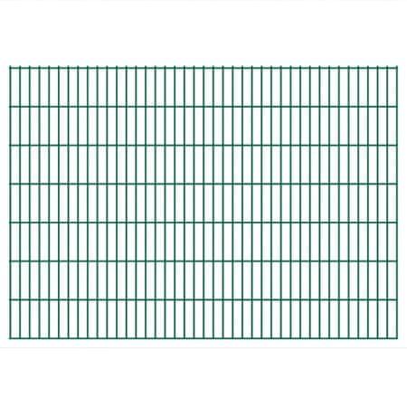 shumee Panele ogrodzeniowe 2D, 2,008 x 1,43 m, 18 m, zielone