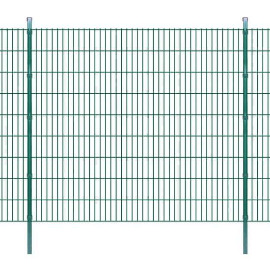 shumee 2D zahradní plotové dílce a sloupky 2008x1830 mm, 22 m, zelené