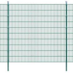 2D Panele i słupki ogrodzeniowe 2008x2030 mm 2 m zielone