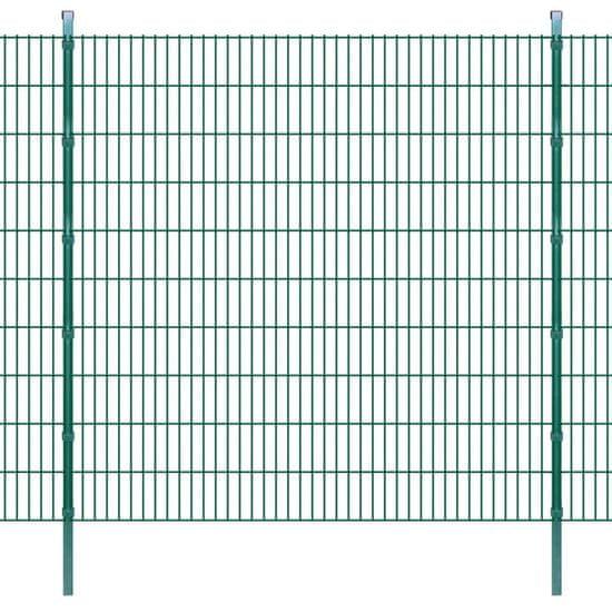 shumee 2D zahradní plotové dílce a sloupky 2008x2030 mm 14 m zelené