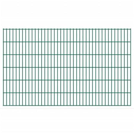 shumee Panele ogrodzeniowe 2D, 2,008 x 1,23 m, 26 m, zielone