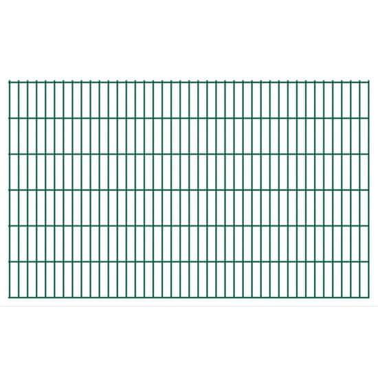 Vidaxl 2D zahradní plotové dílce 2008x1230 mm, 10 m, zelené