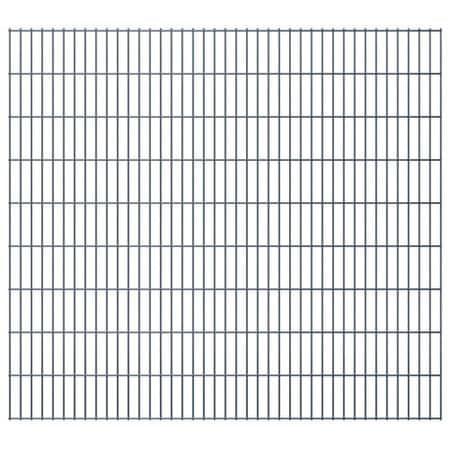 shumee Panele ogrodzeniowe 2D, 2,008 x 1,83 m, 34 m, szare
