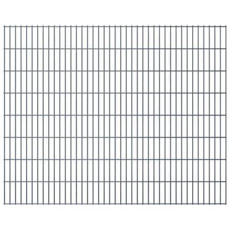 shumee Panele ogrodzeniowe 2D, 2,008 x 1,63 m, 34 m, szare