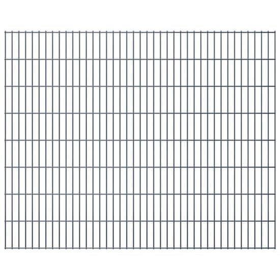 Vidaxl 2D zahradní plotové dílce 2008x1630 mm, 28 m, šedé
