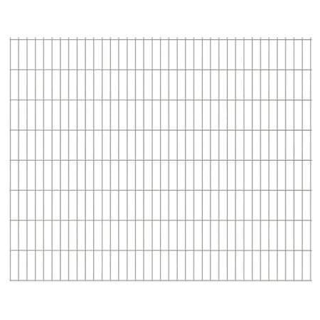 Panele ogrodzeniowe 2D 2008x1630 mm 40 m Srebrne