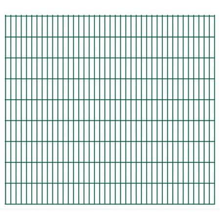 Panele ogrodzeniowe 2D, 2008x1830 mm, 32 m, zielone