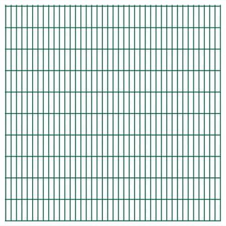 shumee Panele ogrodzeniowe 2D, 2,008 x 2,03 m, 38 m, zielone