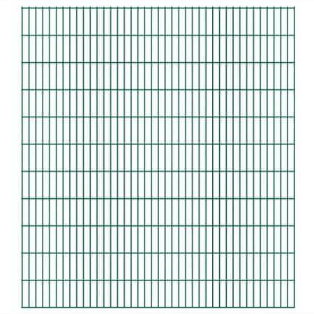 Panele ogrodzeniowe 2D - 2008x2230 mm 34 m Zielone