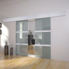 shumee Dvojkrídlové sklenené posuvné dvere