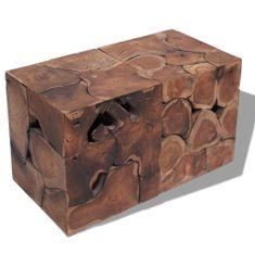 Sedadlá/Konferenčný stolík, masívne teakové drevo