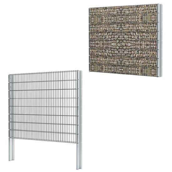 shumee 2D Gabion Fence Steel 2,008x1,63 m 4 m Šedá