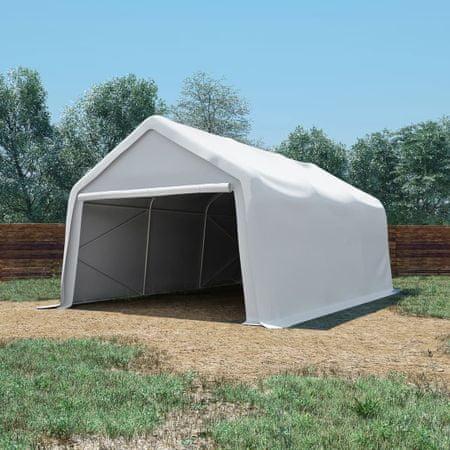 shumee fehér PVC tárolósátor 550 g/m² 4 x 6 m