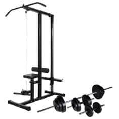 shumee edzőtorony egykezes és kétkezes súlyzókészlettel 30,5 kg