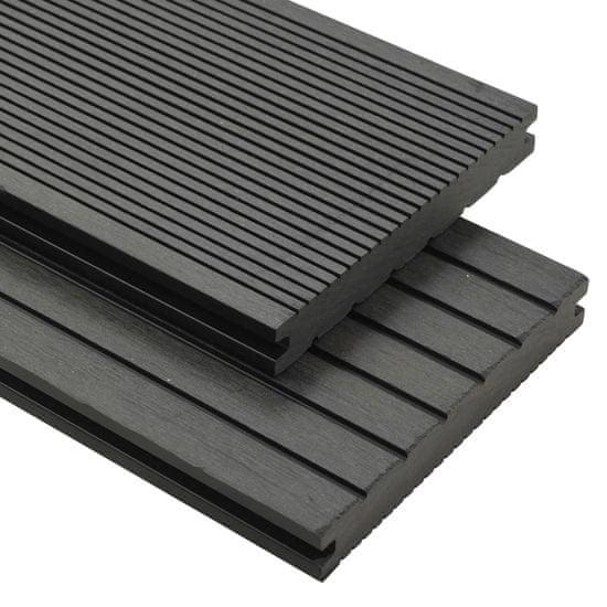 shumee WPC plná terasová prkna a příslušenství 10 m² 2,2 m šedá