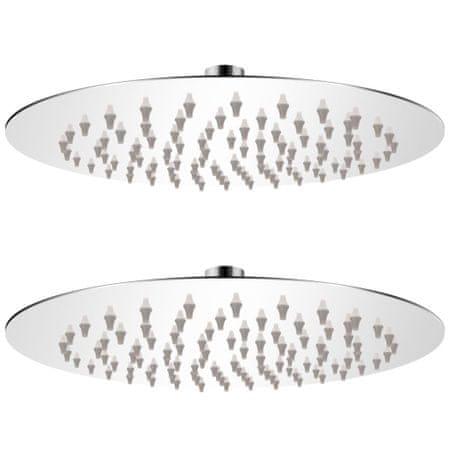 shumee 2 db rozsdamentes acél esőztető zuhanyfej Ø 20 cm