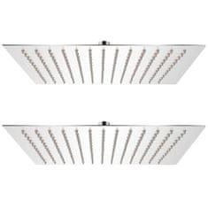 Dešťové sprchové hlavice 2 ks 30 x 30 cm nerezová ocel