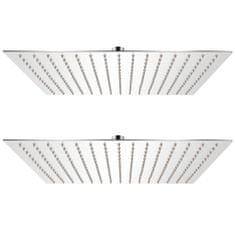 Dešťové sprchové hlavice 2 ks 40 x 40 cm nerezová ocel