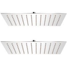 Dešťové sprchové hlavice 2 ks 20 x 30 cm nerezová ocel