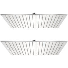 Dešťové sprchové hlavice 2 ks 50 x 50 cm nerezová ocel